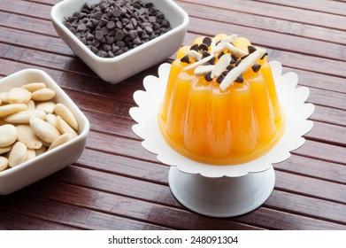 tasty orange jelly dessert