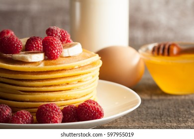 "Poster 24/"" x 36/"" Layers Sweet Honey Pancakes Banana"