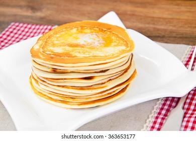 Tasty Pancakes Stack Studio Photo