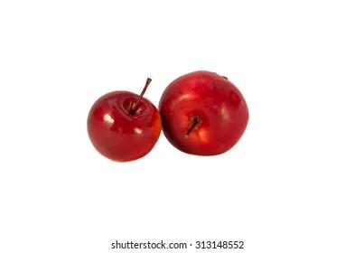 Tasty paradise apple isolated on white background
