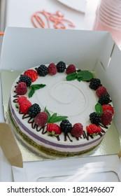 Tasty. Pastry. Sweet dessert. Copy space