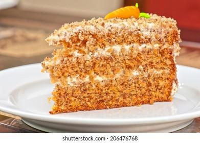 tasty piece of cake closeup