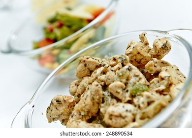 Tasty pieces of chicken meat