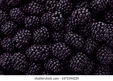 Tasty ripe fresh blackberries with as background, closeup view