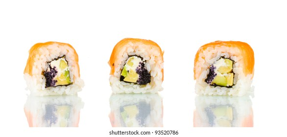 Tasty rolls isolated on white