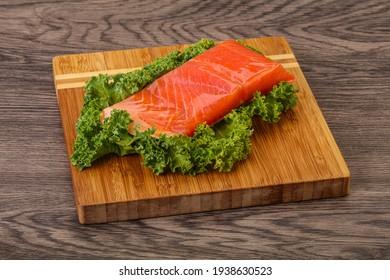 Tasty Salmon fillet slice for cooking