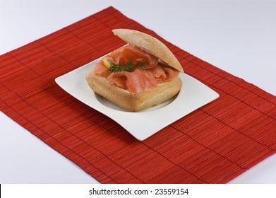 Tasty Salmon sandwich