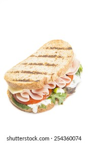 Tasty sandwich isolated on white