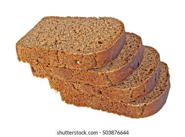 Tasty sliced rye bread isolated on white background