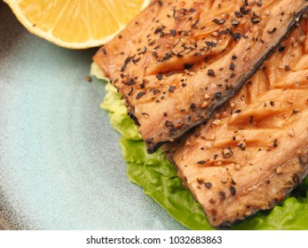 Tasty smoked mackerel garnished with pepper corns