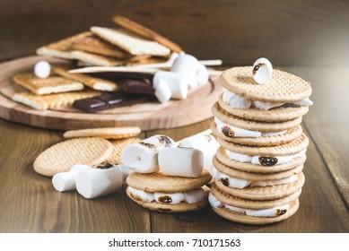 Tasty smore Cracker marshmallow chocolate Smore bar