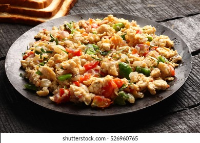 Tasty and spicy Homemade egg bhurji