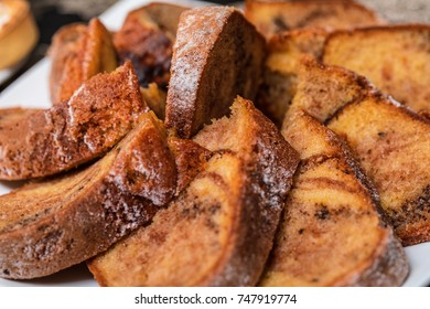 Tasty sweet homemade traditional fruit cake