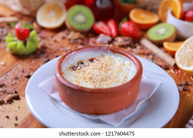 tasty turkish sutlac rice pudding