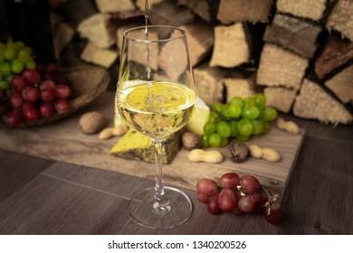 tasty wine dinner - Shutterstock ID 1340200526