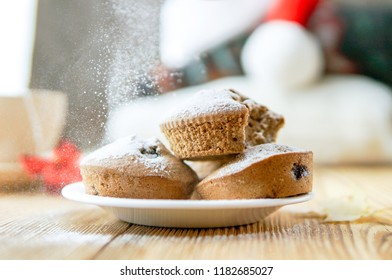 Tasty winter pastry background