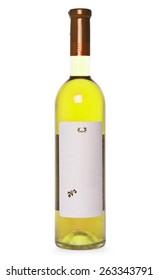 Tasty yellow cocktail on white