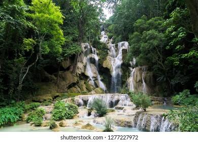 Tat Sae Waterfalls in Luang Prabang Province, Laos