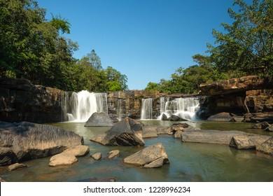 Tat Ton waterfall at Tat Ton  National Park ,Chaiyaphum ,Thailand