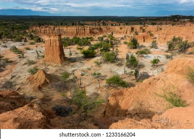 Tatacoa Desert landscape, second largest arid zone in Colombia, South America
