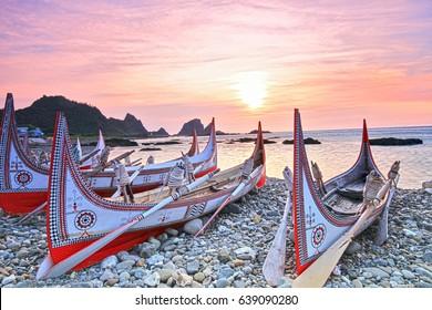 tatala,canoe,yami,sunrise,Lanyu,Taitung,Taiwan