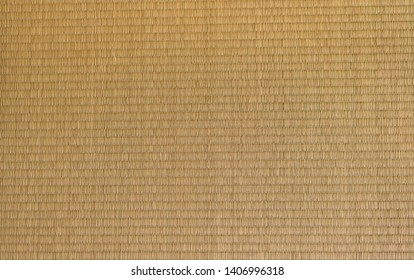Tatami mat Japanese flooring texture and background.