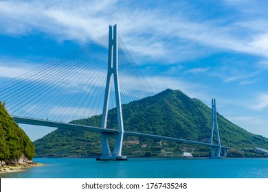 The Tatara Bridge is a cable-stayed bridge that is part of the Nishiseto Expressway, commonly known as the Shimanami Kaidō.