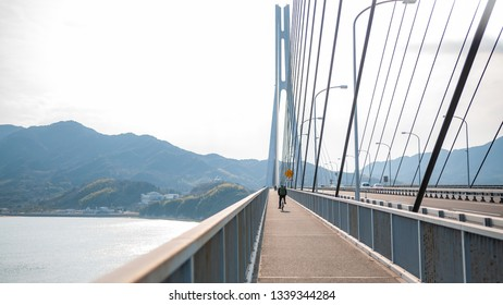 Tatara Bridge, which connects Ikuchi Island with Omishima Island, is the third bridge to cross while on the Shimanami Kaido cycling tour starting from Onomichi and ending at Imabari.