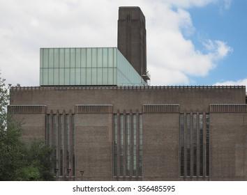 Tate Modern art gallery in South Bank powerstation in London, UK