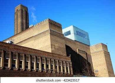 Tate Modern on the South bank of London, England,UK was originally built in 1947 as a power station and is now the UK's  national museum of modern art.