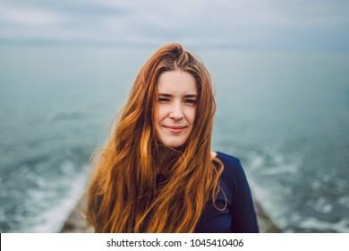 tatooed girl and sea