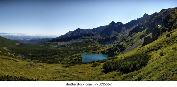 Tatra Mountain Range, looking East from the peak of Kasprowy Wierch