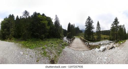 Tatra mountains summer panorama 360 hdri forest