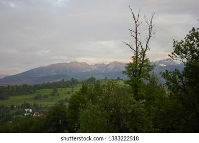 The Tatra Mountains, Tatras, or Tatra - a mountain range that forms a natural border between Slovakia and Poland