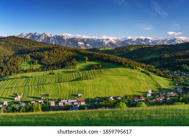 Tatra mountains view grom Grandeus hill - Shutterstock ID 1859795617
