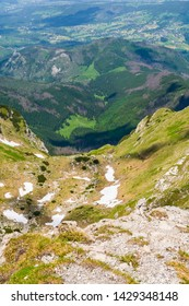 Tatra National Park - The upper and lower floors of the Mulowa Valley in the Western Tatras in Poland.