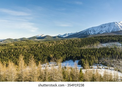 Tatra panorama seen in winter and autumn colors