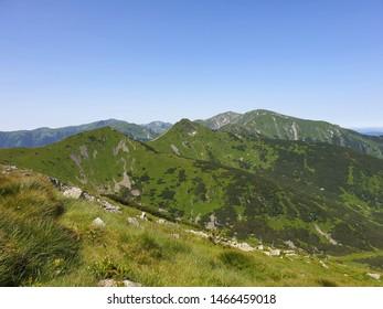 Tatry mountain range on a sunny day