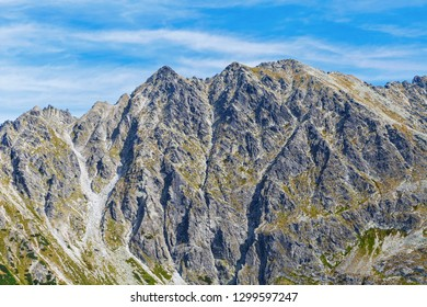 Tatry mountains, view on Granaty mountain range
