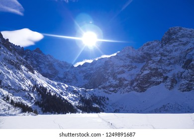 Tatry Mountains Winter In The Sky Mountains