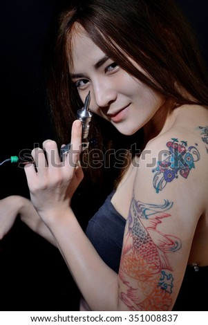 Asian gallery photo tattoo woman good message
