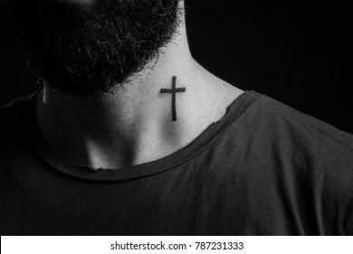 1fda8aa46508d Cross Tattoo Images, Stock Photos & Vectors   Shutterstock
