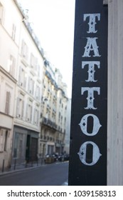 Tattoo hand painted sign