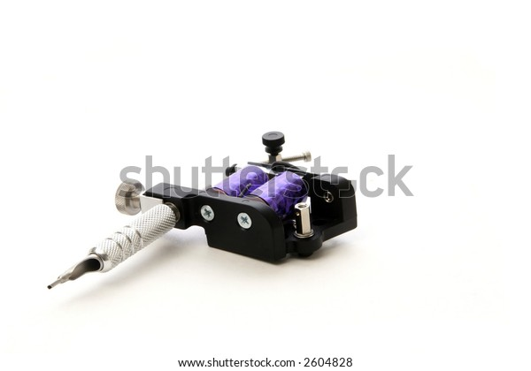 A tattoo machine is a combination electronic and mechanical device used (with needles and ink) for putting permanent body art on a persons skin.