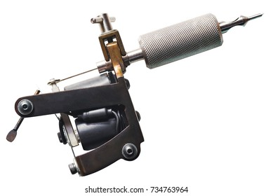 tattoo machine isolated on white background