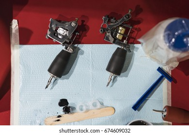 Tattoo Machine Setup Images, Stock Photos & Vectors | Shutterstock