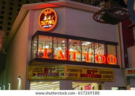 Tattoo Studio Las Vegas Downtown LAS Stock Photo (Edit Now ...