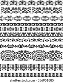Tattoo Tribal Borders Raster Illustration