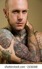 Tattooed male