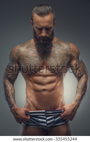 Have thought Men with beards tattoos and muscles